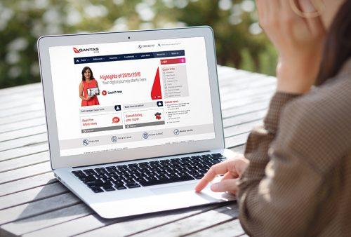 Qantas Super web design